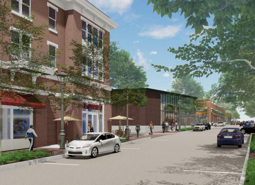 A residential/retail street rendering
